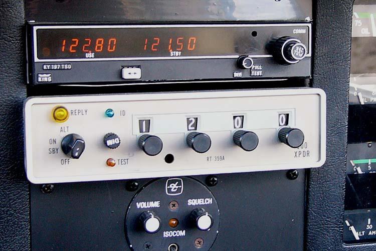 Equipo de Transponder Cessna en código 1200