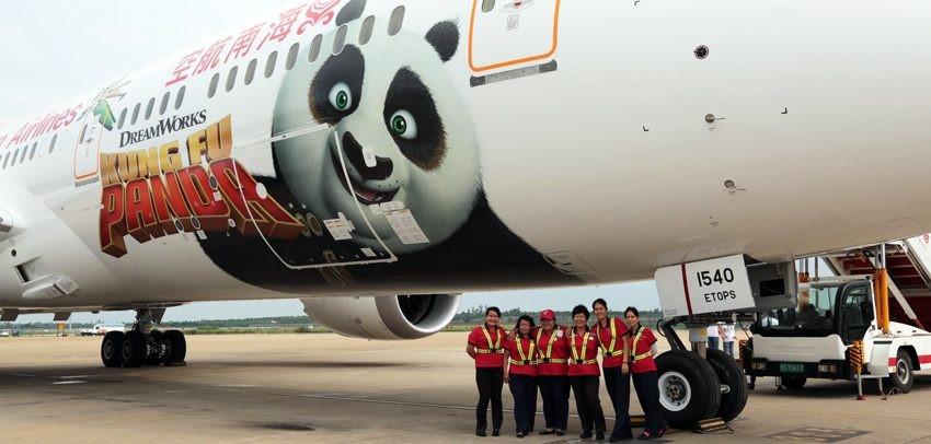 787 Dreamliner con Livery de la película KUNG FU Panda