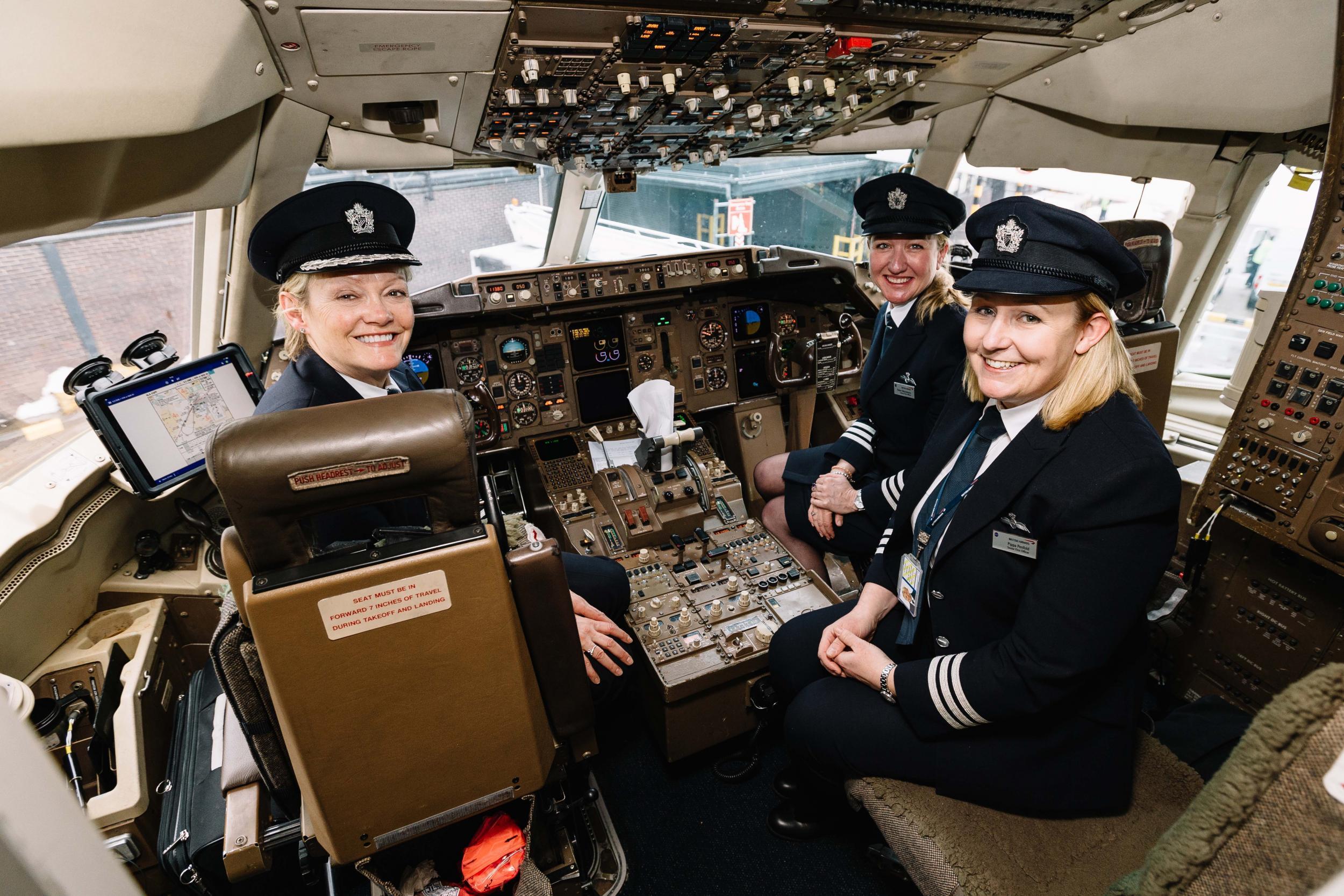 Mujeres Piloto Volando Cada Vez Más Alto Transponder 1200